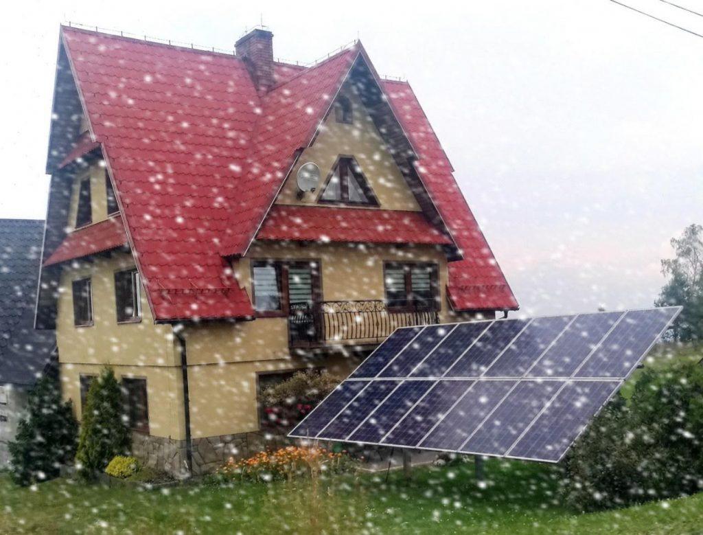 czy panele działają zimą - czy fotowoltaika działa zimą