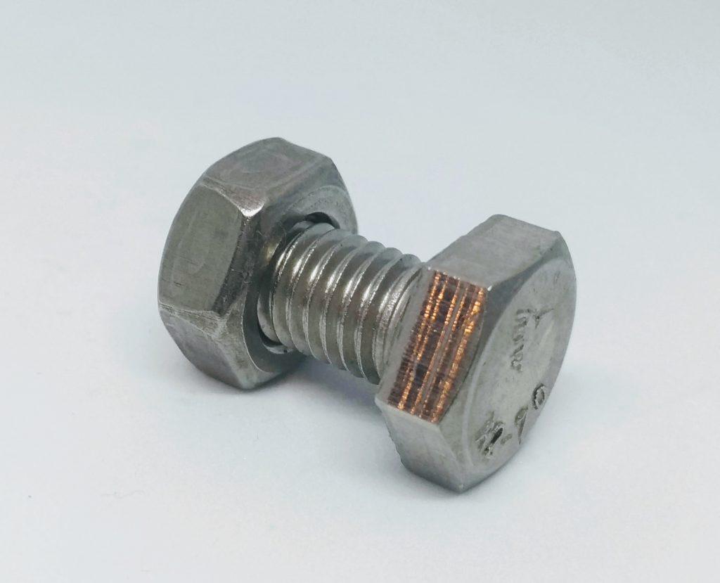 Śruba z nakrętką FI10 stal A2 Fotowoltaika montaż