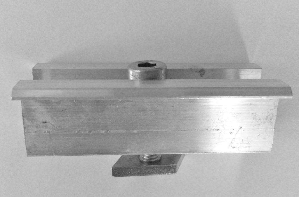 Zacisk klema środkowa komplet ALU i stal A2 Fotowoltaika montaż