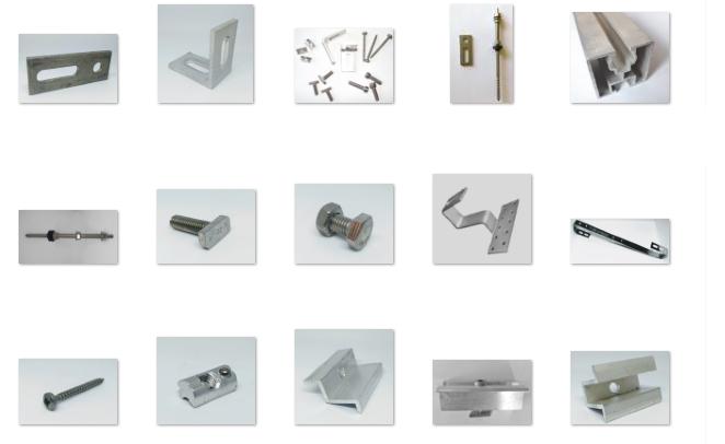 Konstrukcja i akcesoria do montażu modułów fotowoltaicznych